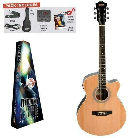 Redding RGC51PCE Acoustic Electric Guitar Pack