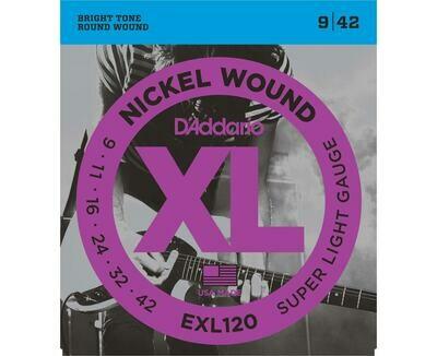 D'Addario  XL Nickel Wound Electric Super Light Set 09-42
