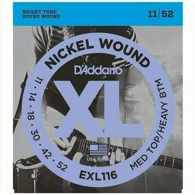 D'Addario XL Nickel Wound Electric Medium Top / Heavy Bottom Set 11-52