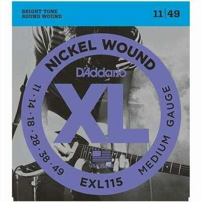 D'Addario XL Nickel Wound Electric Medium Set 11-49