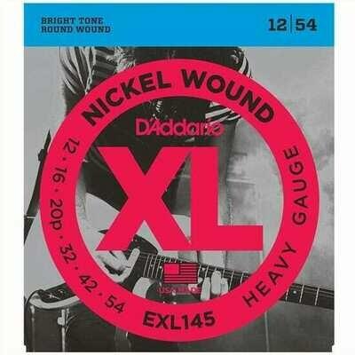 D'Addario XL Nickel Wound Electric Heavy Plain 3rd Set 12-54