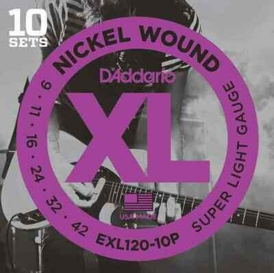 D'Addario  XL Nickel Wound Electric Super Light 10 Pack 09-42