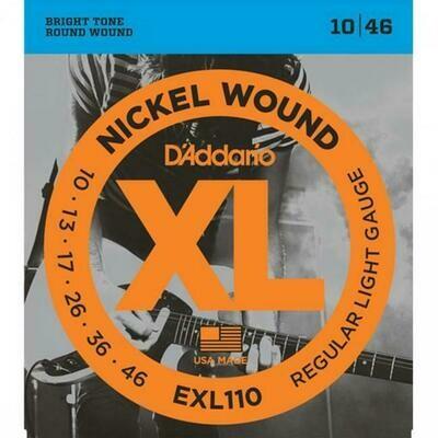D'Addario XL Nickel Wound Electric Regular Light Set 10-46