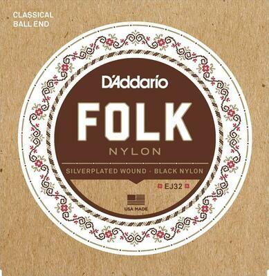 D'Addario Folk Nylon Ball End Normal Tension