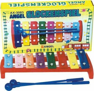 Angel Diatonic Glockenspiel 8 Coloured Notes