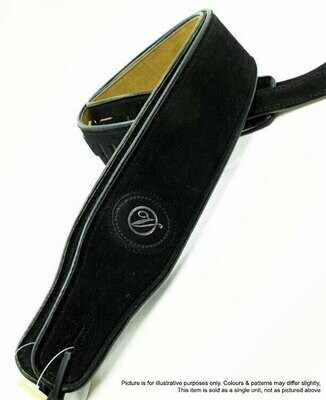 Vorson Black Suede Leather Guitar Strap