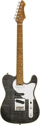 Aria 615-MK2 Nashville Electric Guitar in Black Diamond Gloss Finish