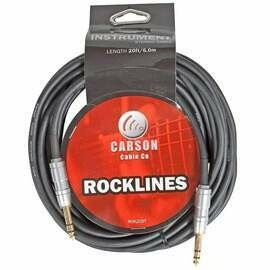 Carson Rocklines 20 Ft Stereo Instrument/Audio Cable