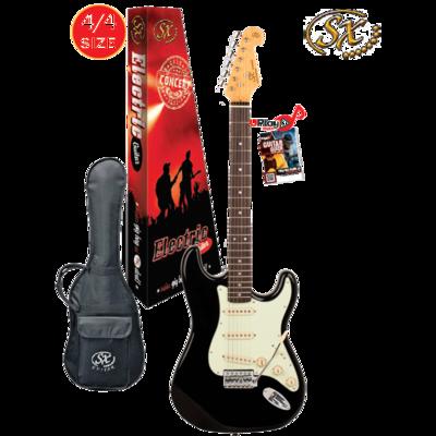 SX 4/4 VES62B Electric Guitar With Gig Bag – Black