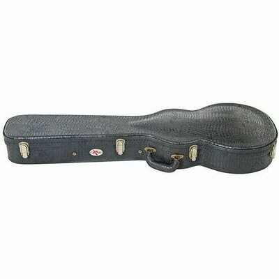 Xtreme HC3007 Les Paul Shaped Electric Guitar Case w/ Croc Vinyl Covering (Black)