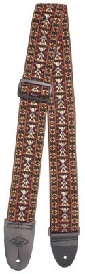 LM Woven Fabric Tapestry Guitar Strap Hootenanny Orange