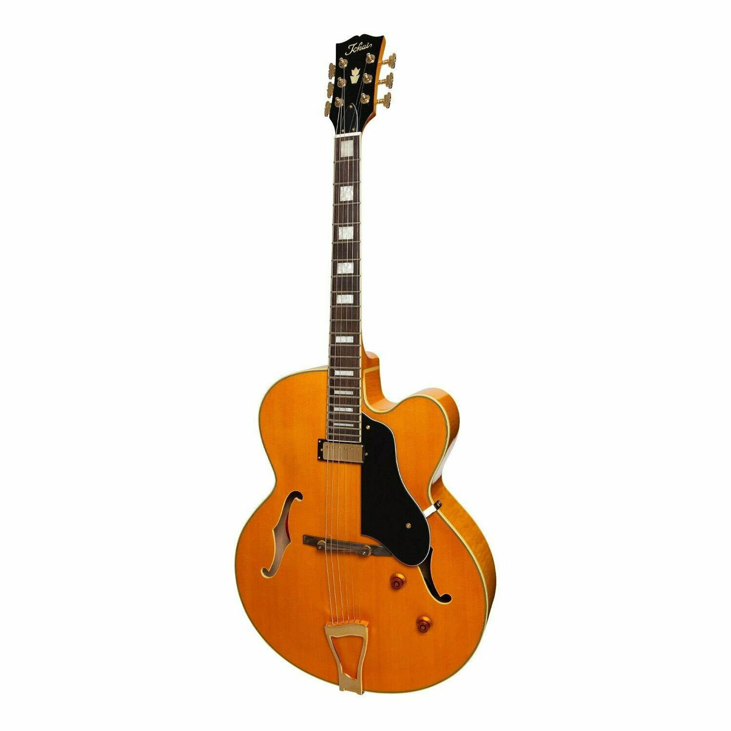 Tokai 'Traditional Series' JS-70 Jazz Hollow Body Archtop Electric Guitar (Vintage Natural)