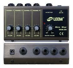 LEEM WAM290 4 Channel Mini Mixer