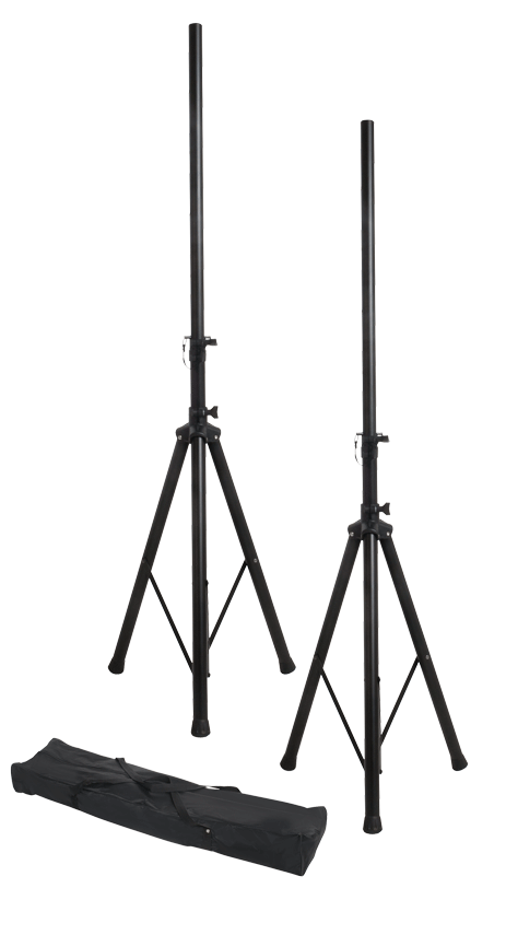 Xtreme SS252 Speaker Stand Pack - 2 Stands and Carry Bag