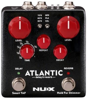 NU-X Verdugo Series Atlantic Multi Delay & Reverb Effects Pedal