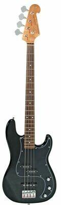 SX VEP62B P&J Vintage Style Bass Guitar w/Bag (Black)