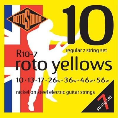 Rotosound R107 Roto Yellows 7 String Electric Set 10 - 56