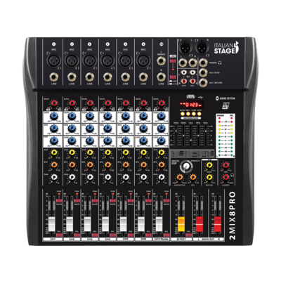 Italian Stage 2MIX8PRO 8-Channel Stereo Mixer