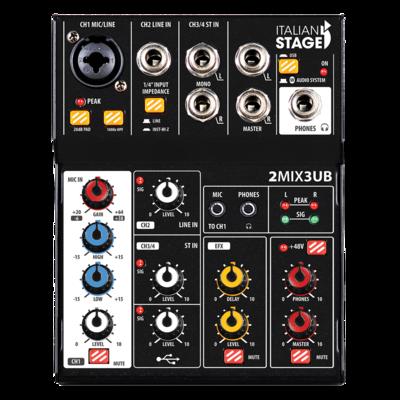 Italian Stage 2MIX3UB Stereo Mixer