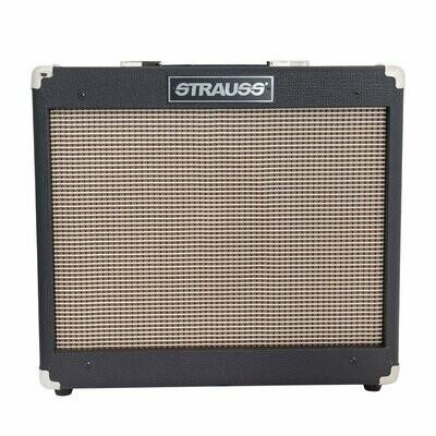 Strauss SVT-15R 15 Watt Combo Valve Amplifier with Reverb (Black)