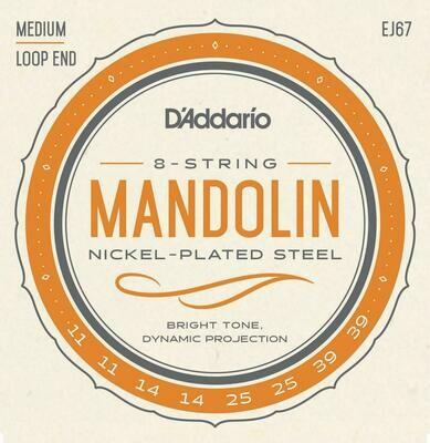 D'Addario EJ67 Nickel Mandolin Strings Medium 11-39
