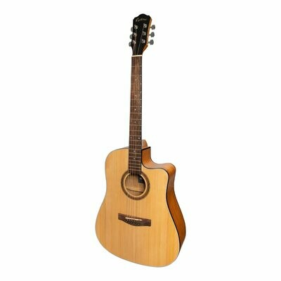 Martinez '41 Series' Dreadnought Cutaway Acoustic-Electric Guitar (Spruce/Mahogany)