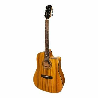 Martinez '41 Series' Dreadnought Cutaway Acoustic-Electric Guitar (Koa)