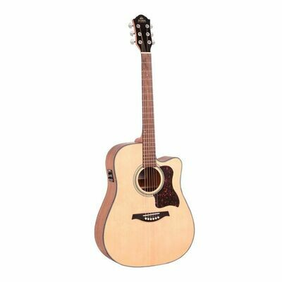 Gilman GD10CE Dreadnought Acoustic Guitar With Pickup Natural Satin