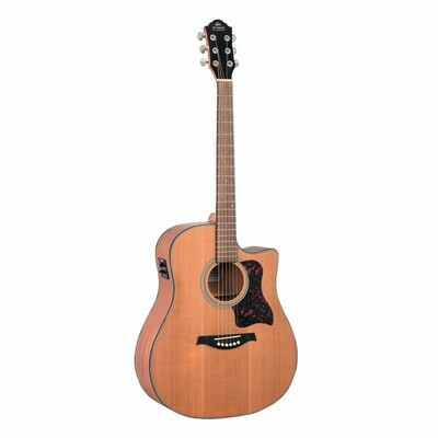 Gilman GD12CE Dreadnought Acoustic Guitar With Pickup Natural Satin