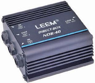 Leem RDR40 Passive DI Box