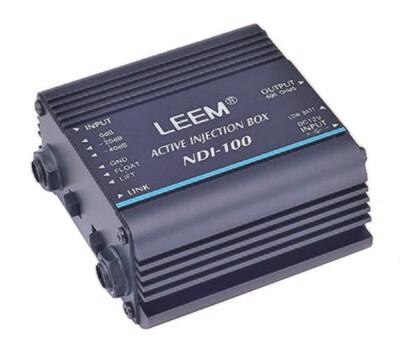 DI Box LEEM NDI-100 Active Injection Performance for Bass Keyboards