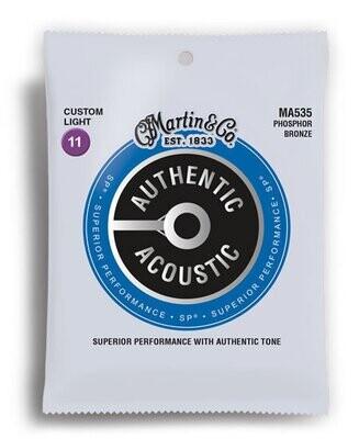 Martin Authentic Acoustic SP 92/8 Phosphor Bronze Custom Light Guitar String Set (11-52)