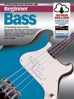 Progressive Beginner Bass Book/Online Video & Audio