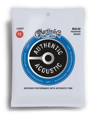 Martin Authentic Acoustic SP 92/8 Phosphor Bronze Light Guitar String Set (12-54)