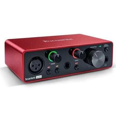 Focusrite Scarlett Solo Gen 3 2-in/2-out USB Audio Interface