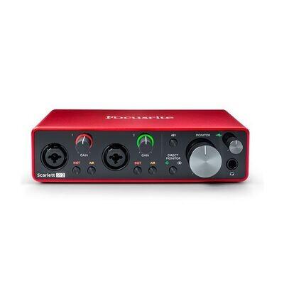 Focusrite Scarlett 2i2 Gen 3 2-in/2-out USB Audio Interface