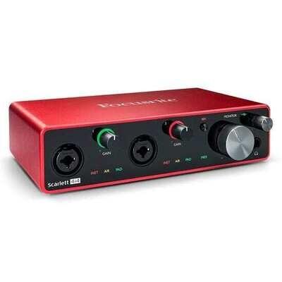 Focusrite Scarlett 4i4 Gen 3 4-in/4-out USB Audio Interface