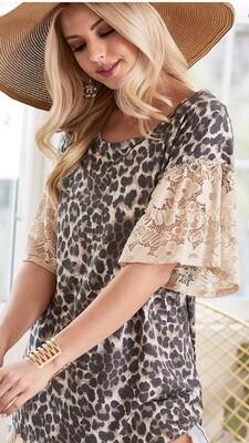 Leopard & Lace Tunic