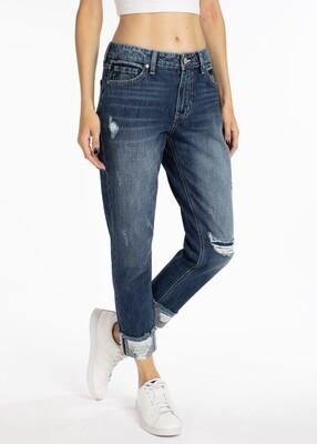 Kancan High Waist Boyfriend jeans