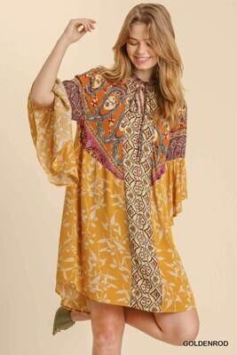 Umgee Mixed Print Dress