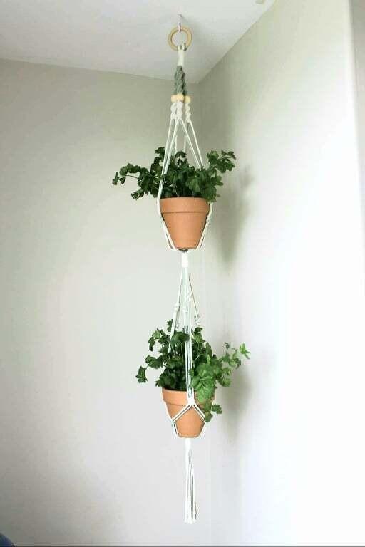 Macrame Plant Hanger - Design Style D