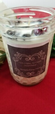 8 OZ. Rose Buds and Black Obsidian Candle