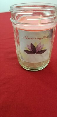 8 OZ Light Smelling Peppermint Candle
