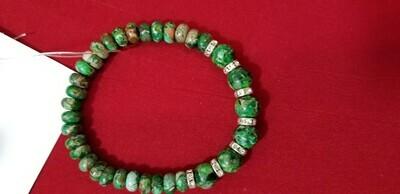 Green Jasper Bracelet 9 Inch  Ward off negative energy