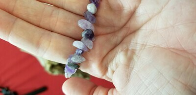 Amethyst Bracelet 9 inch Relieves Fear and Anxiety
