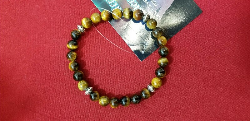 Tigers Eye Bracelet 7 inches Grounding and release fear and anxiety