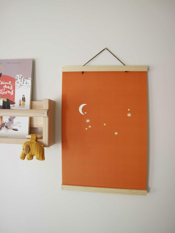 Poster maan en sterren