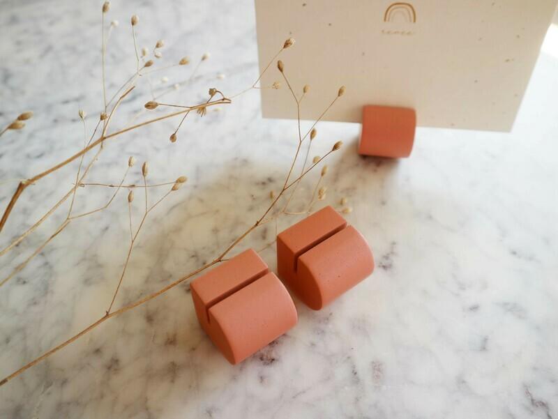 Atelier Pierre set 3 kaartenhouders peach