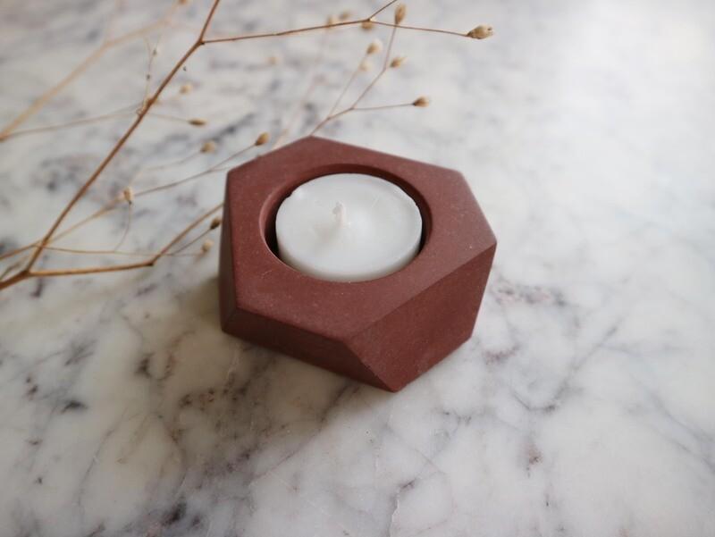 Atelier Pierre theelicht mini marsala