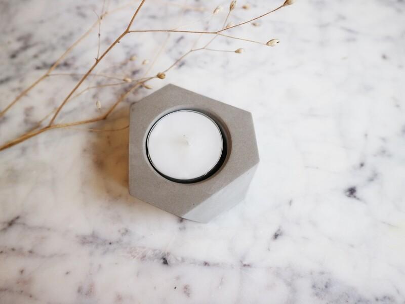 Atelier Pierre theelicht mini natural light grey